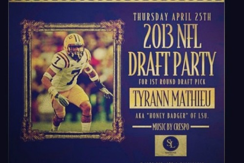 'First-Round Draft Pick' Tyrann Mathieu Planning Party for Thursday