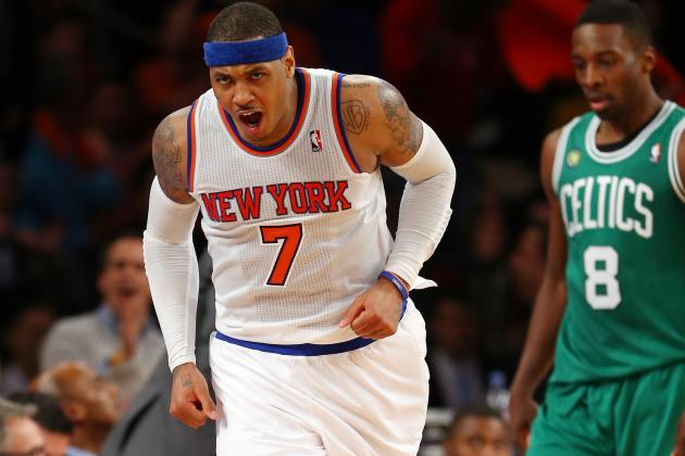 Knicks' Anthony Emerging as Celtics' Worst Fear