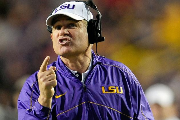 LSU HC Les Miles Voices Displeasure for Permanent Cross-Division Opponents