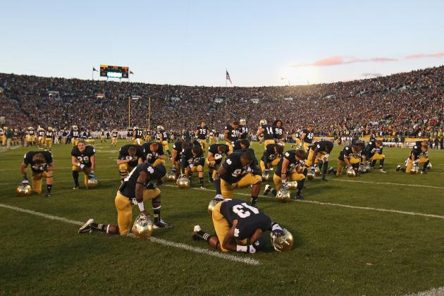 Notre Dame Football: 2013 Home Kickoff Times Announced
