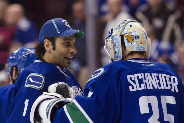 Vancouver Canucks: Roberto Luongo Takes over for the  Injured Cory Schneider