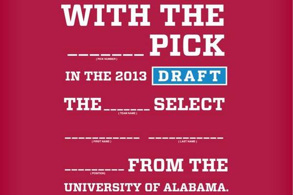 Photo: Tide Asst. Uses NFL Draft as Recruiting Pitch