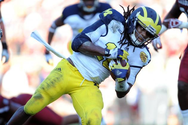 Could Denard Robinson Fall to 6th Round in NFL Draft?