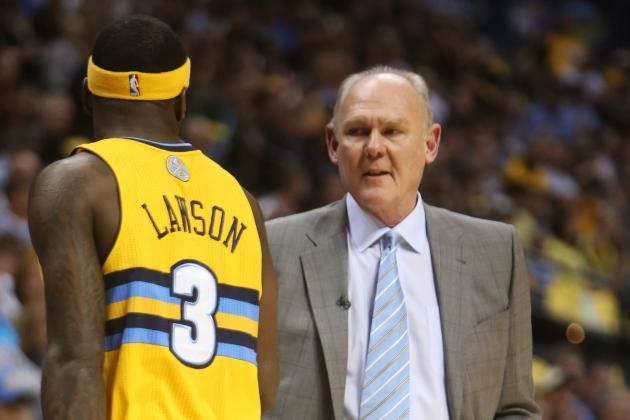 George Karl Downplays Nuggets Blowout; Kenneth Faried to Start Game 3