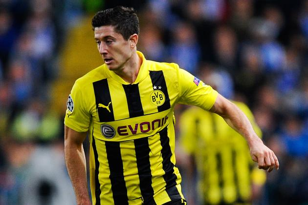 Borussia Dortmund Blast Real Madrid Behind Robert Lewandowski's 4 Goals