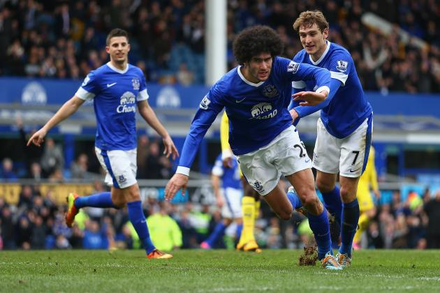 Where Does Marouane Fellaini Rank Among Everton Greats?