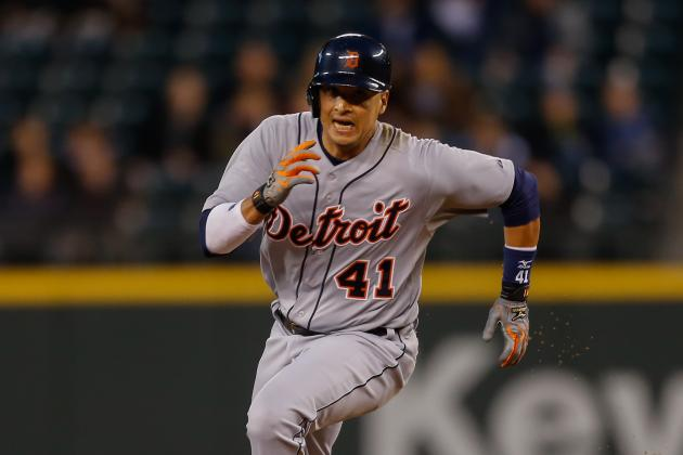 GIF: Victor Martinez Concedes Getting Thrown out at Home