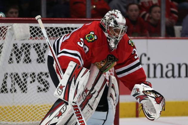 Emery Heads to Locker Room; Crawford Replaces in Net