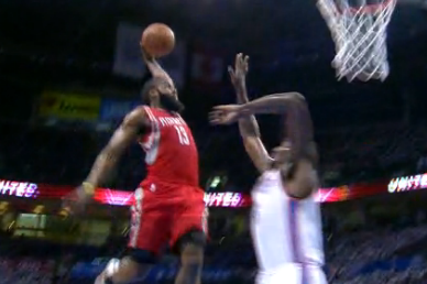 James Harden with Tomahawk Dunk (VIDEO)