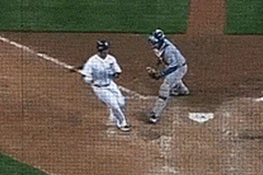 Victor Martinez Runs off the Field to Avoid Collision at Home Plate
