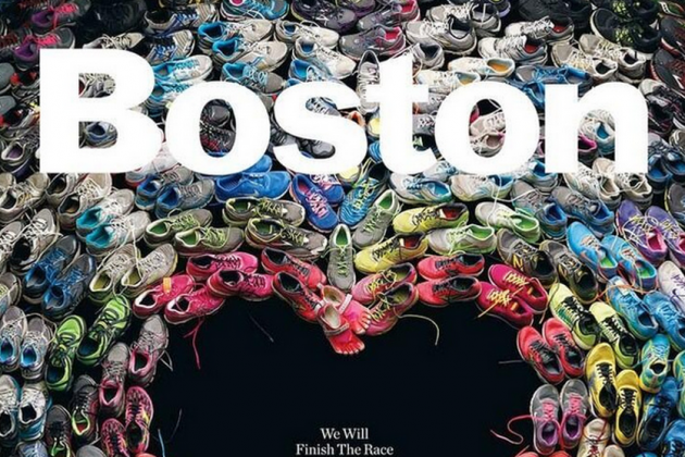 Cover of Boston Magazine Features the Many Shoes of Marathon Runners