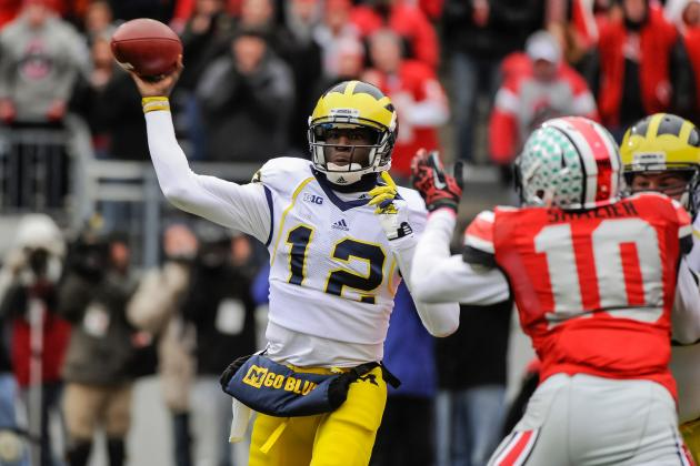 Wolverines' Devin Gardner Can Hit WR Jeremy Gallon with Eyes Closed