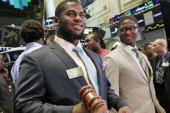 PHOTO: Sharrif Floyd Closes the NYSE, Then Takes Home Gavel