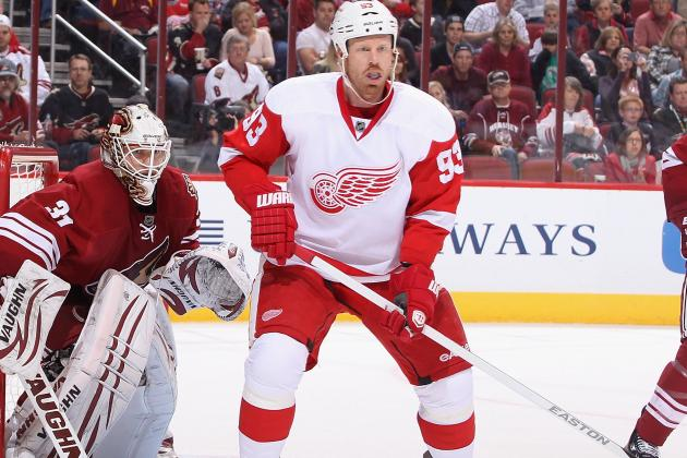 Johan Franzen Will Play Tonight; Red Wings Can Clinch Playoff Spot