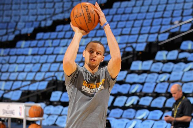 Curry Challenges Michigan's Nik Stauskas to 3-Point Contest