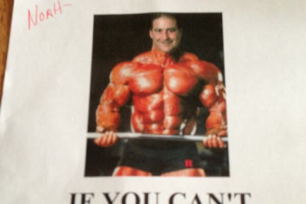 Rutgers Sends Recruiting Letter with a Ridiculous Photoshopped Bodybuilder