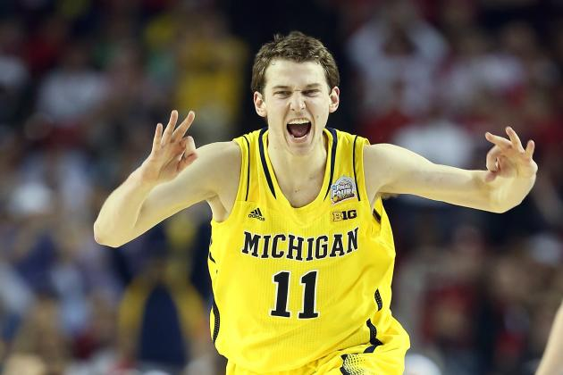 Nik Stauskas of Michigan Hits 46 Straight 3-Pointers in the Rain