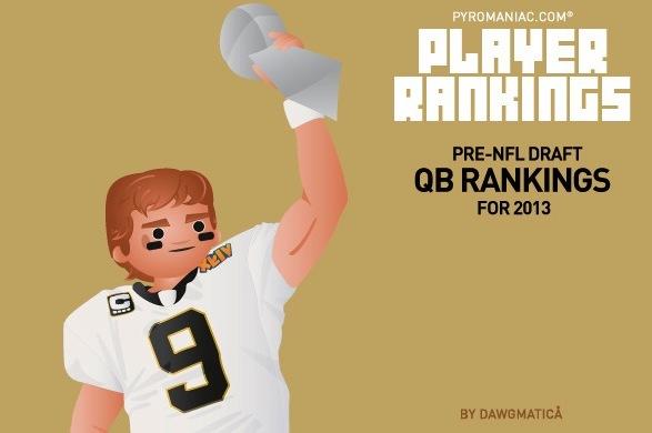 2013 Fantasy Football: Pre-Draft Rankings on the Top 40 Quarterbacks