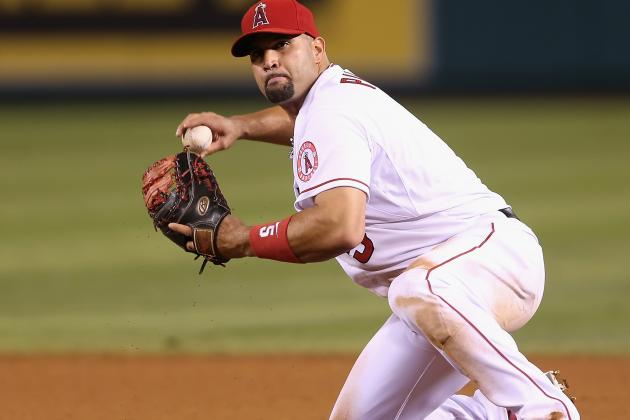 Albert Pujols Is Back at First Base Tonight for the First Time Since April15