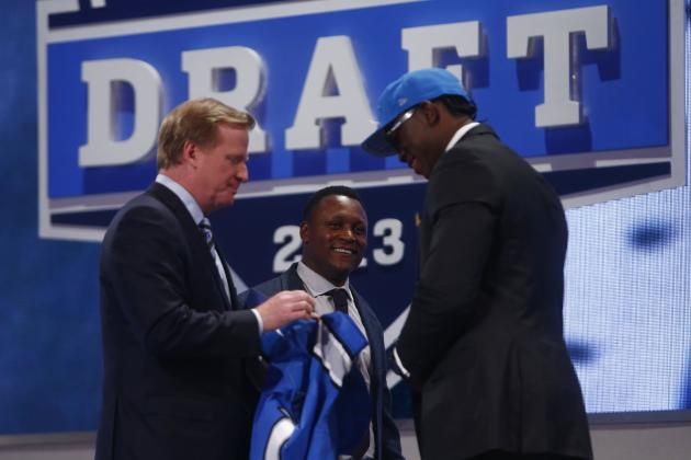 Barry Sanders Announces the Detroit Lions' 5th Pick of the 2013 NFL Draft
