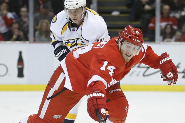 Red Wings Beat Nashville, 5-2, to Maintain Own Playoff Destiny