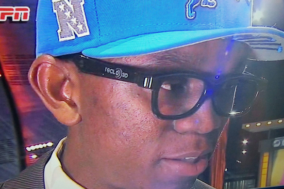 PHOTO: Ziggy Ansah Wears 3D Glasses to NFL Draft