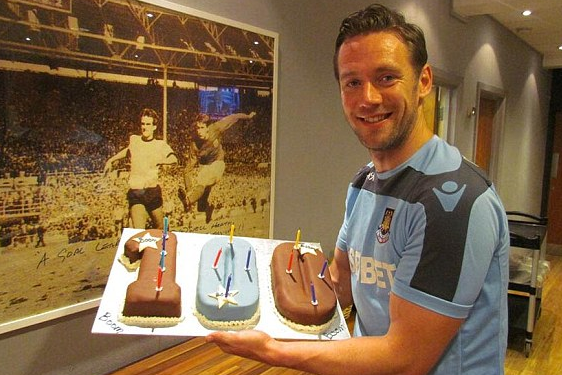 Icing on the Cake! Nolan Celebrates 100th Goal with Treat