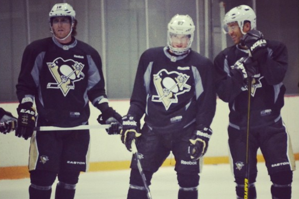 Scary Instagram: Crosby, Neal, Iginla Skating Together