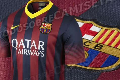 Barcelona Home Shirt for 2013-14 Season