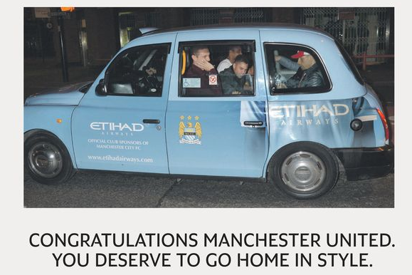 City Poke Fun at Utd for Car Gaffe