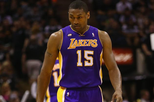 Lakers' Metta World Peace Has Knee Cyst Drained