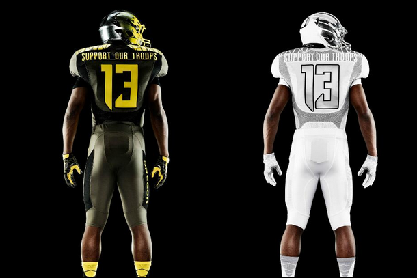 Oregon Ducks Reveal New 'Support Our Troops' Spring Game Uniforms