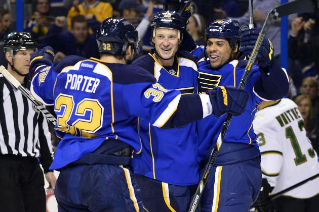 Blues Aiming for Home Stretch