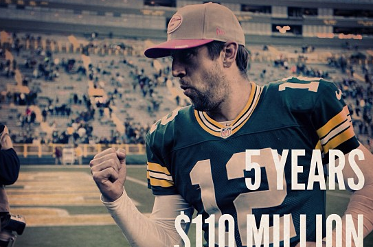 NFL Posts Instagram Photo After Rodgers' Signing