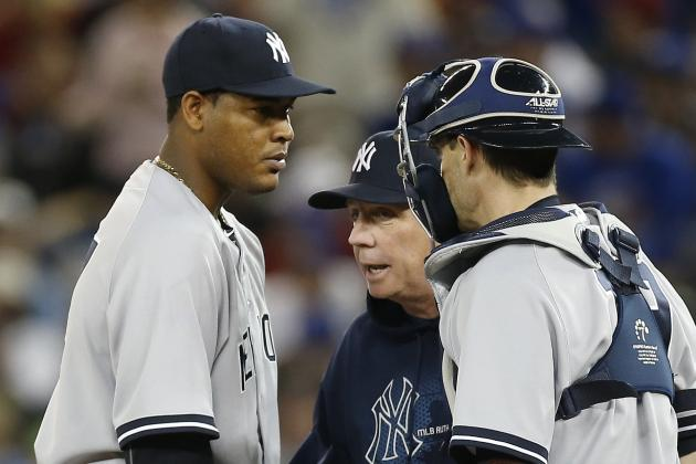 Yankees' Ivan Nova, Francisco Cervelli Exit with Injuries
