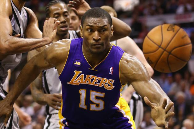 Metta 'Probably' Out for Game 4 vs. Spurs