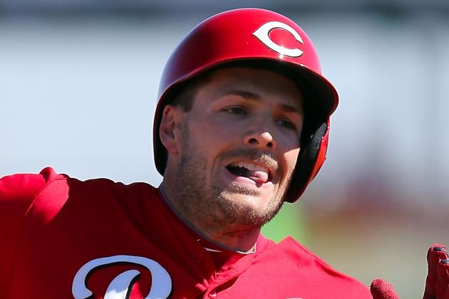 Chris Heisey Leaves vs. Nationals with Hamstring Injury