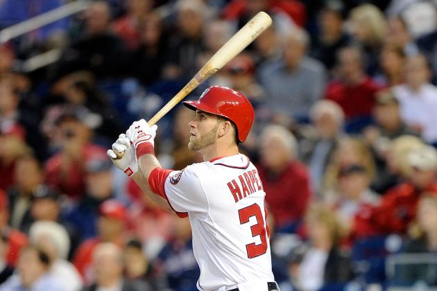 Harper Ties Club HR Record for April, Breaks RBI Mark