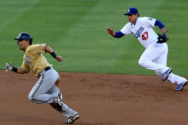 Gomez, Maldonado Power Brewers over Dodgers