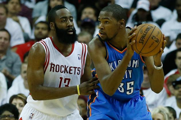 James Harden Says Kevin Durant's Late Three-Pointer Was 'a Lucky Shot'