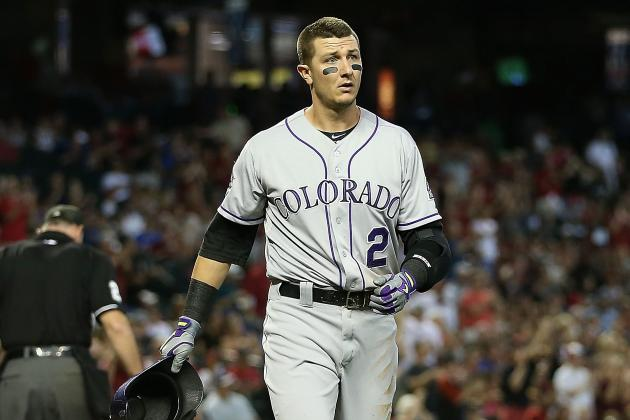 Troy Tulowitzki Exits Game with Left Shoulder Strain