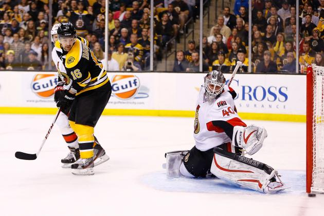 Senators Beat Bruins in Final Game; First-Round Playoff Matchups  Set