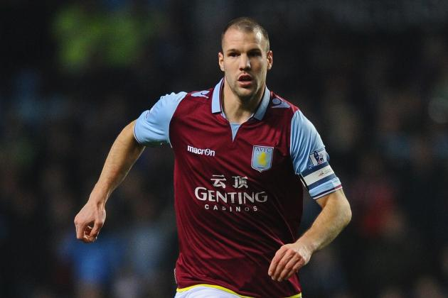 Aston Villa Skipper Ron Vlaar Determined to Beat the Drop