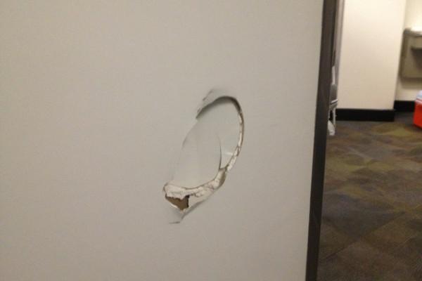 Kenneth Faried Kicks Hole in Locker Room Wall