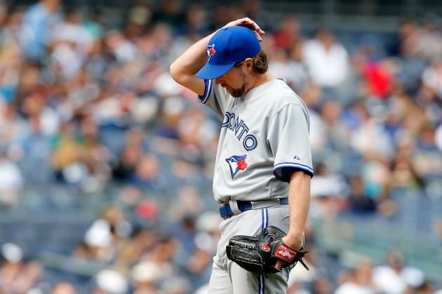 R.A. Dickey Accusing Yankees of 'Stalling' Shows Frustration Is Getting to Jays