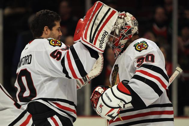 Blackhawks' Crawford, Emery Win William Jennings Trophy
