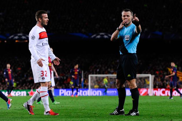 Why David Beckham's Red Card V Evian Actually Makes No Difference for PSG