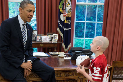 Photo: Jack Hoffman Meets President Obama