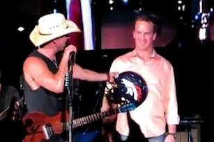 Peyton Manning Walks the Line, Sings Johnny Cash Karaoke