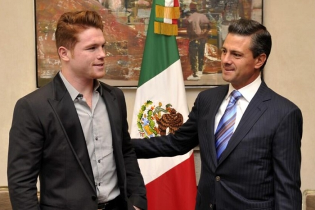 Canelo Is Honored by the President of Mexico